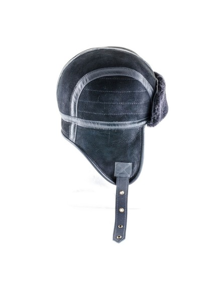 Skórzana czapka Heston Kid- Granatowy
