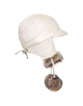 Skórzana czapka Paris Kid