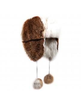 Futrzana czapka Meru Kid (Biało-naturalny)