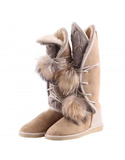 Buty skórzane Stylla- Beż