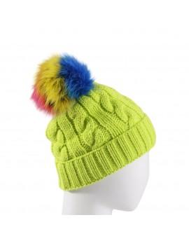 Dzianinowa czapka Rio new - zielony