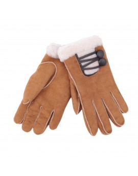 Rękawice skórzane Aspen- Rudy